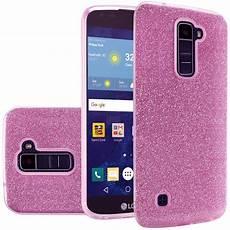 Lg Phone Light For Lg K7 Tribute 5 Hybrid Clear Pc Tpu With Glitter Shiny