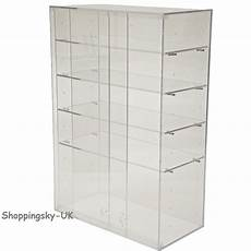 acrylic cabinet large clear display box stand shop