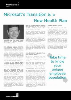 Microsoft Health Benefits Microsoft S Transition To A New Health Plan Fred Thiele