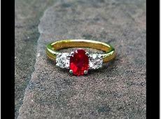 1 carat Vivid Red Burmese Ruby & Diamond Engagement Ring