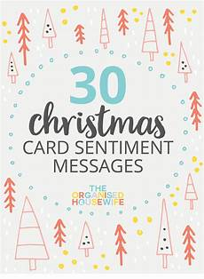 Word Christmas Card 30 Christmas Card Sentiment Messages The Organised