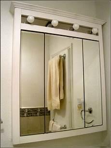 medicine cabinet lights bathroom glossy mirrored