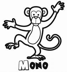 Mono Para Colorear Monos Para Pintar