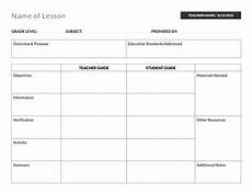 Teaching Planning Template Table Lesson Plan Template Lesson Plan Templates Lesson