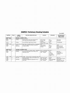 Shooting Schedule Sample Shooting Schedule Template 2 Free Templates In Pdf Word