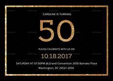 50th Birthday Invites Templates Elegant Black And Gold 50th Birthday Invitation Design