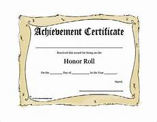 Honor Roll Certificate Templates 11 Certificate Of Honor Templates Free Printable Word