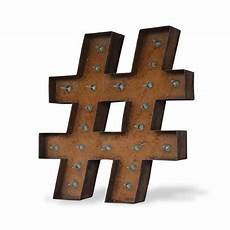 Buy Marquee Lights 12 Hashtag Vintage Marquee Lights Sign Rustic Buy
