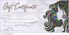 Hair Salon Gift Certificate Template Free 8 Free Printable Hair Salon Gift Certificate Template Ideas