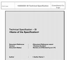Technical Templates Learn To Create A Sap Bw Technical Specification