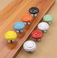 ceramic dresser knob drawer pulls handles colorful cabinet