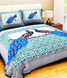 bombay spreads cotton king size bedsheet with 2