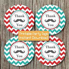 Party Favor Tag Party Favor Tags Mustache Thank You Bumpandbeyonddesigns