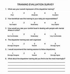 Training Feedback Survey Template Free 15 Sample Training Survey Templates In Google Docs