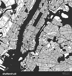 Malvorlagen New York Version New York City Manhattan One Color Map Vector Outline