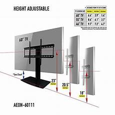 Wall Mount Tv Height Chart Universal Tv Stand For Tv With Swivel And Height