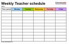 Teacher Weekly Schedule Template 12 Free Sample Teacher Schedule Templates Printable Samples