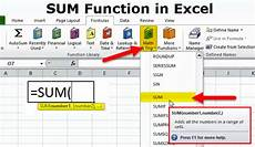 Excel Function Definition Sum Function In Excel Formula Examples How To Use Sum