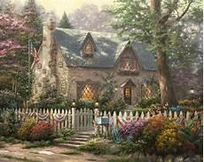 kinkade cottage painting liberty cottage limited edition