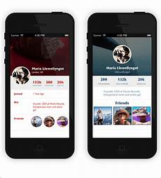 Iphone Apps Design Templates 12 Best Examples Of App Profile Page Designs Design