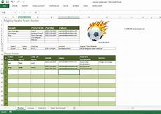 Team Templates Soccer Roster Free Excel Template Excel Templates For