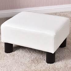 small ottoman footrest pu leather footstool rectangular