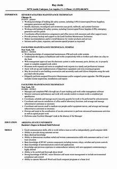 Maintenance Technician Resume Sample Facilities Maintenance Technician Resume Samples Velvet Jobs