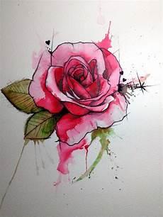 Rose Designs 46 Beautiful Watercolor Rose Tattoos