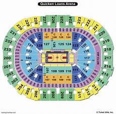 Usair Arena Seating Chart Quicken Loans Arena Seating Chart Seating Charts Tickets