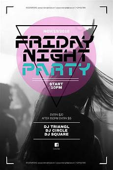 Party Poster Template Friday Night Party Poster Template Click On The Image To