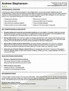 Resume Sample Australia The Australian Employment Guide