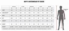 Boys Age Size Chart Size Charts For 686 Apparel