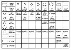 Table Linen Length Chart Linen Product Categories Allstar Tents And Events