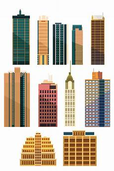 Building Templates City Building Skyscrapers Template Vector Set 03 Free Download