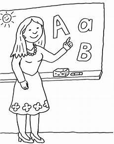 Schule Und Familie Malvorlagen Junior Kostenlose Malvorlage Einschulung Lehrerin An Der Tafel