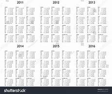 Multi Year Calendar Multi Year Calendar 2011 2012 2013 Stock Illustration