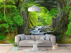 Cave Sofa 3d Image by 3d Wallpaper Photo Wallpaper Custom Living Room Mural