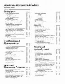Apartment Hunting Checklist Apartment Comparison Checklist Apartment Checklist