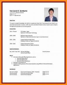 Resume Examples For Jobs With Experience No Experience Resume Sample