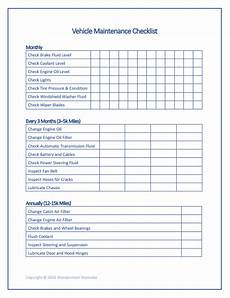 Car Maintenance Checklist Spreadsheet Free Printable Car Maintenance Checklist Home