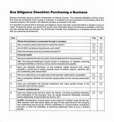 Acquisition Due Diligence Checklist Excel Free 12 Sample Due Diligence Checklist Templates In Pdf