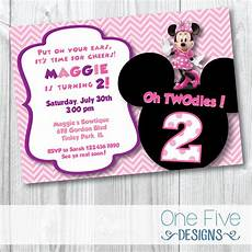 Minnie Mouse Birthday Invitations Free Minnie Mouse Oh Twodles Birthday Party Invitation