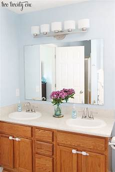 One Light Fixture Over Two Mirrors New Bathroom Vanity Lights