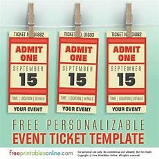Print Tickets Free Free Personalized Event Ticket Template Free Printables