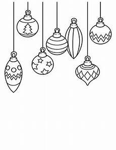 ausmalbilder weihnachten bunte weihnachtskugeln