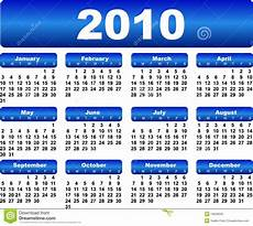 Calnder For 2010 Calendar For 2010 Stock Vector Image Of Blue Month