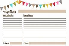 Recipe Cards Printable Recipe Cards Free Printables Geminired Creations