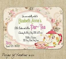 Vintage Party Invitation Items Similar To Cute Vintage Tea Party Invitation Digital