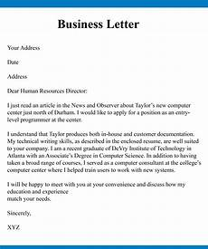 Basic Business Letters Business Letter