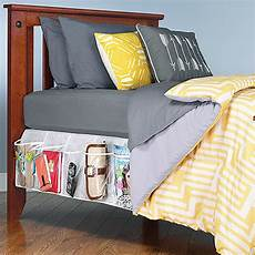 whitmor bedskirt storage organizer clear home